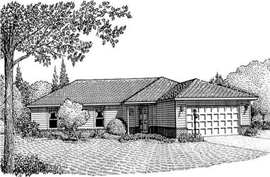 3-Bedroom, 1841 Sq Ft Contemporary Home Plan - 173-1025 - Main Exterior