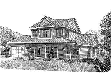 3-Bedroom, 1784 Sq Ft Country Home Plan - 173-1026 - Main Exterior
