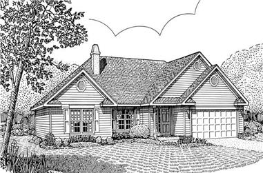 3-Bedroom, 1433 Sq Ft Contemporary Home Plan - 173-1027 - Main Exterior