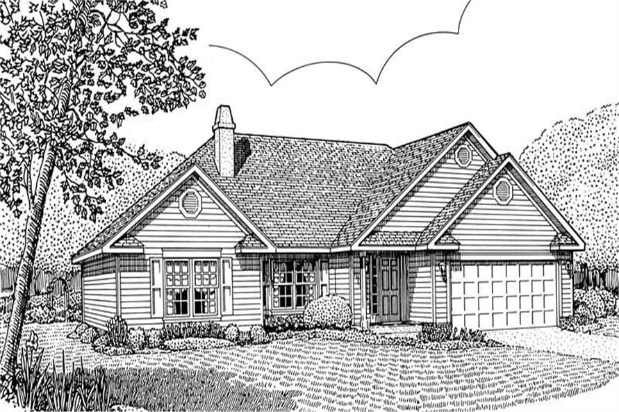 Main image for house plan # 3673