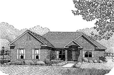 Front elevation of Contemporary home (ThePlanCollection: House Plan #173-1031)