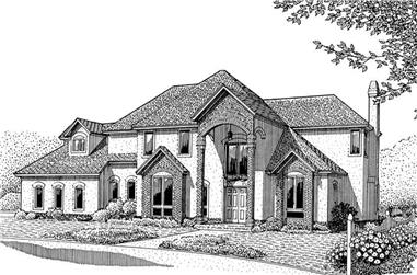 3-Bedroom, 3008 Sq Ft Contemporary Home Plan - 173-1032 - Main Exterior