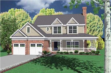 4-Bedroom, 2431 Sq Ft Country Home Plan - 173-1034 - Main Exterior