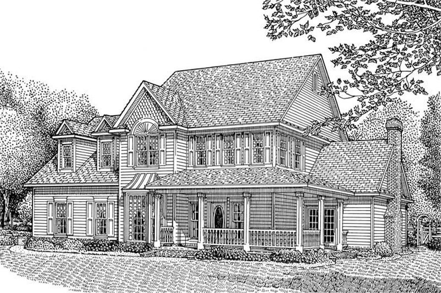 4-Bedroom, 2795 Sq Ft Country Home Plan - 173-1037 - Main Exterior