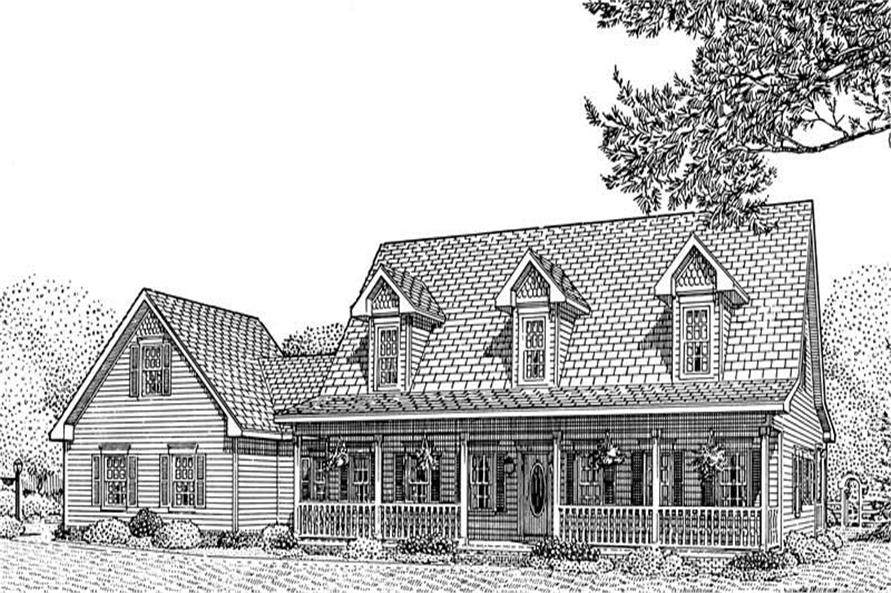 3-Bedroom, 2544 Sq Ft Country Home Plan - 173-1039 - Main Exterior