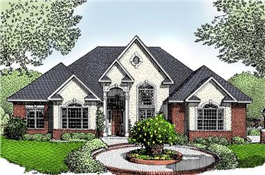 3-Bedroom, 2437 Sq Ft Contemporary Home Plan - 173-1040 - Main Exterior