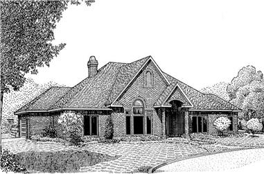 3-Bedroom, 2532 Sq Ft Contemporary Home Plan - 173-1041 - Main Exterior