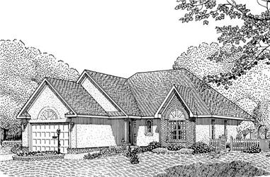 3-Bedroom, 1627 Sq Ft Contemporary Home Plan - 173-1042 - Main Exterior