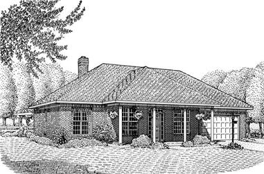 3-Bedroom, 1969 Sq Ft Contemporary Home Plan - 173-1043 - Main Exterior