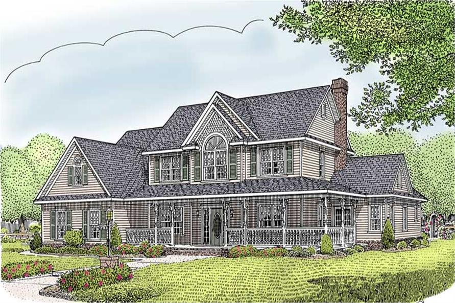 Main image for house plan # 16994