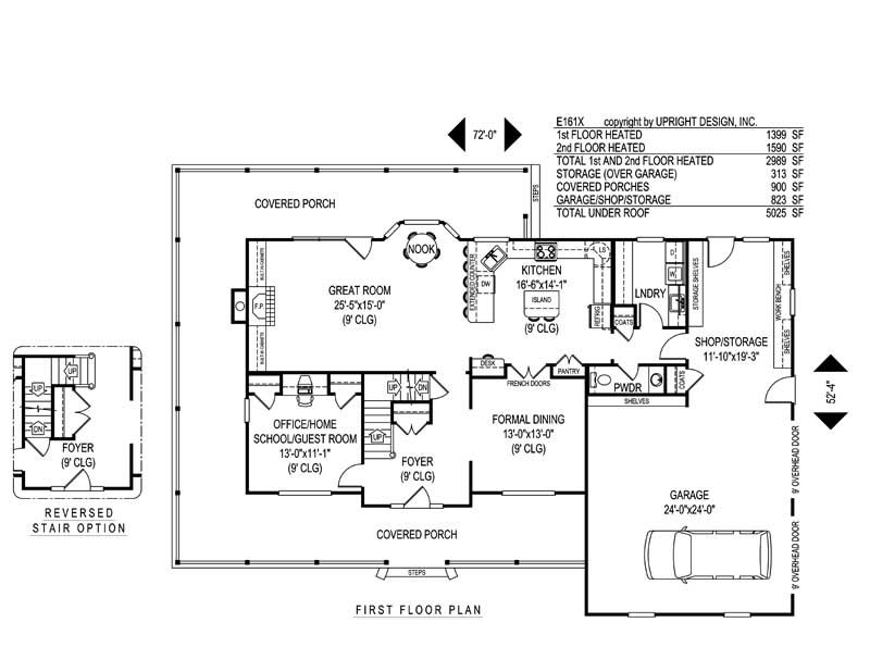 House Plan E161X Main Floor Plan