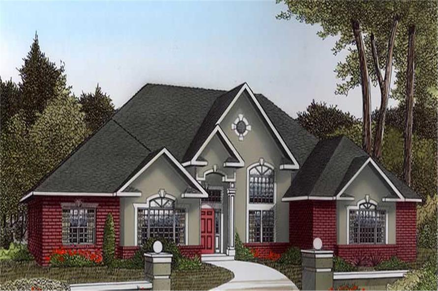 3-Bedroom, 2836 Sq Ft Contemporary Home Plan - 173-1050 - Main Exterior