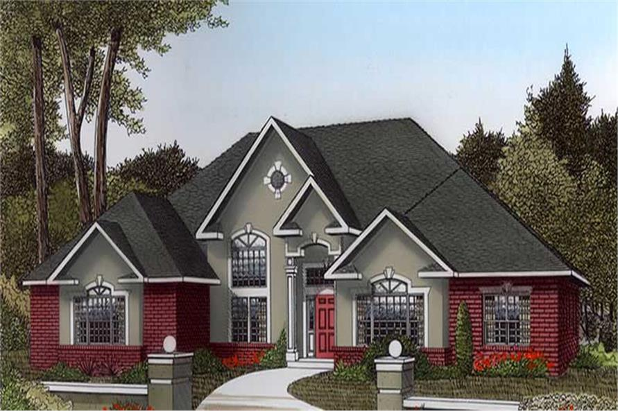 3-Bedroom, 2615 Sq Ft Contemporary Home Plan - 173-1052 - Main Exterior