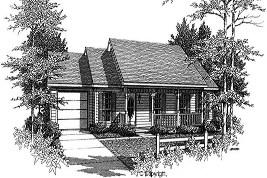 3-Bedroom, 2558 Sq Ft Country Home Plan - 174-1004 - Main Exterior