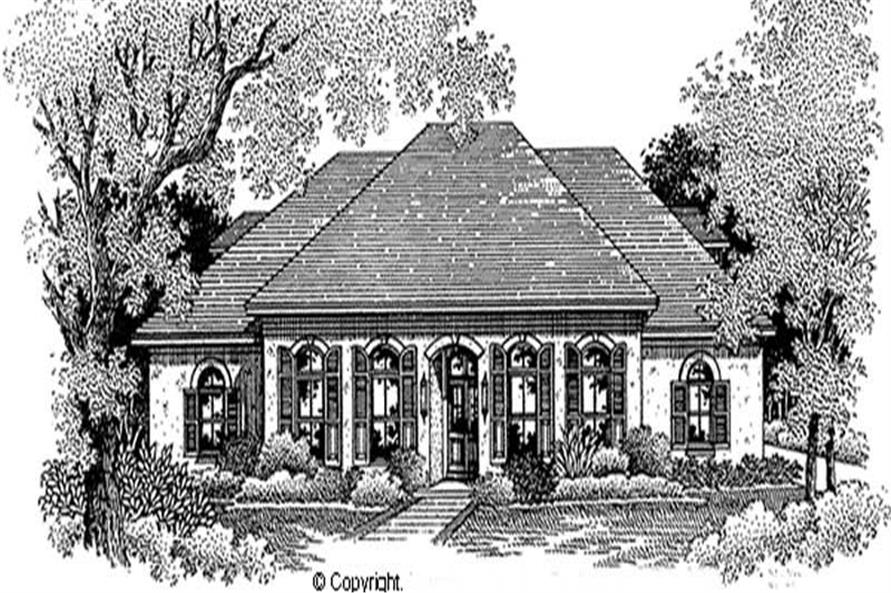 3-Bedroom, 2482 Sq Ft European House Plan - 174-1009 - Front Exterior
