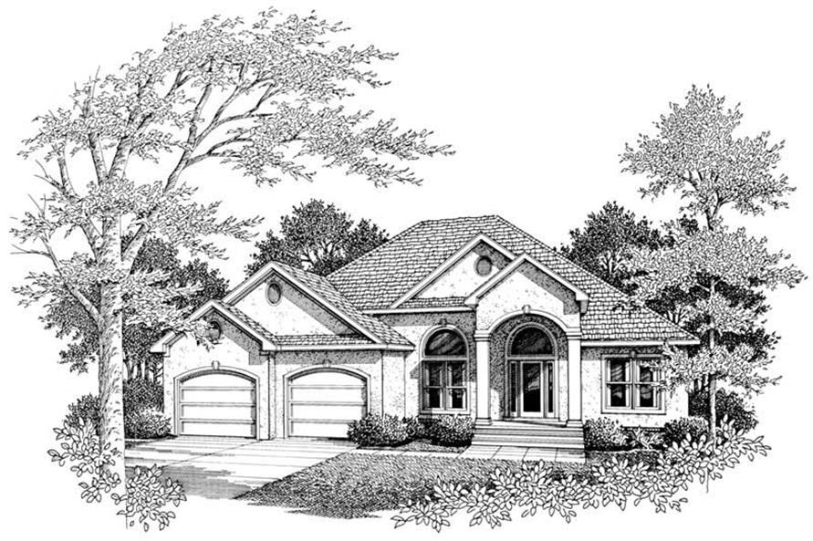 3-Bedroom, 2436 Sq Ft Country House Plan - 174-1010 - Front Exterior