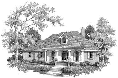 3-Bedroom, 2296 Sq Ft Cape Cod House Plan - 174-1013 - Front Exterior