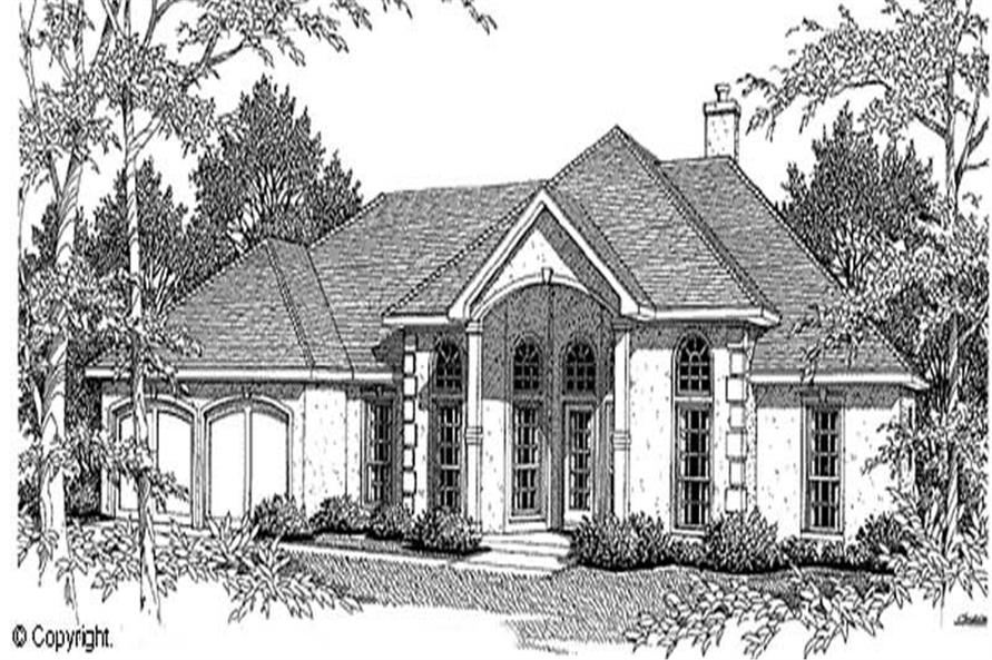 3-Bedroom, 2256 Sq Ft European House Plan - 174-1014 - Front Exterior
