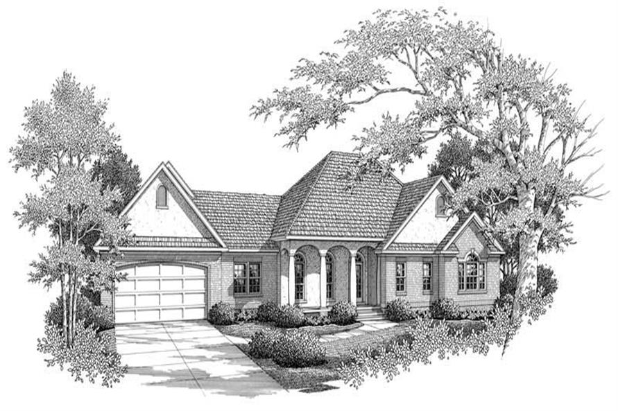 4-Bedroom, 2545 Sq Ft Country Home Plan - 174-1015 - Main Exterior