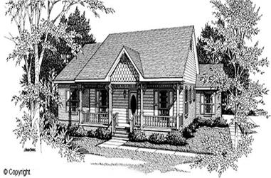 3-Bedroom, 1463 Sq Ft Cape Cod House Plan - 174-1020 - Front Exterior