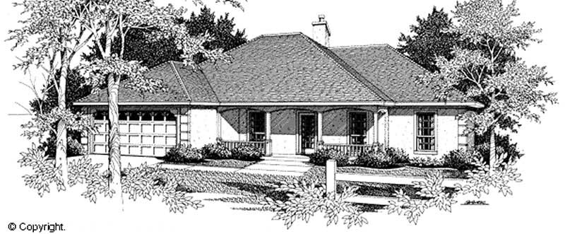 Traditional French Country Ranch House Plans Home