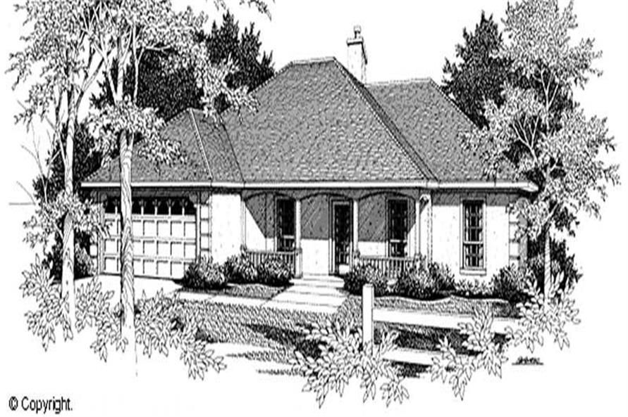 3-Bedroom, 1646 Sq Ft Country Home Plan - 174-1024 - Main Exterior
