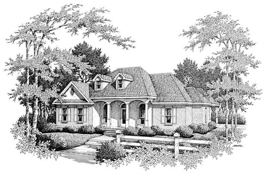 4-Bedroom, 2119 Sq Ft Cape Cod House Plan - 174-1026 - Front Exterior
