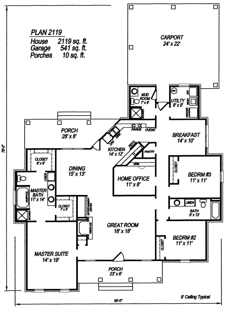 Eplans Cape Cod House Plan Four Bedroom Cape Cod 4042 - 4 Bedroom ...