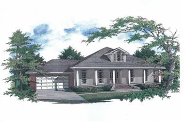 3-Bedroom, 1972 Sq Ft Cape Cod House Plan - 174-1029 - Front Exterior