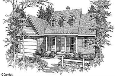 3-Bedroom, 1298 Sq Ft Country House Plan - 174-1031 - Front Exterior