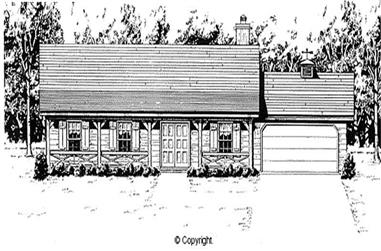 4-Bedroom, 1620 Sq Ft Country House Plan - 174-1033 - Front Exterior