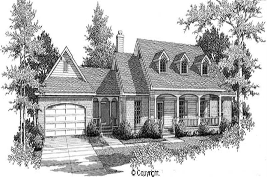 3-Bedroom, 1594 Sq Ft Cape Cod House Plan - 174-1034 - Front Exterior