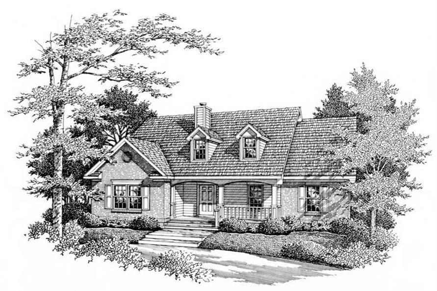 2-Bedroom, 1495 Sq Ft Country Home Plan - 174-1038 - Main Exterior