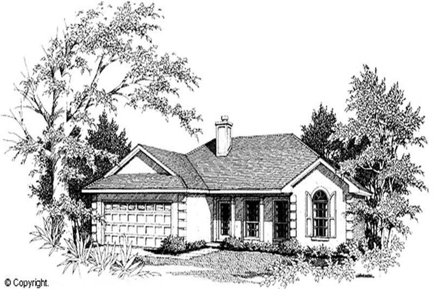 1-Bedroom, 1476 Sq Ft Country Home Plan - 174-1039 - Main Exterior