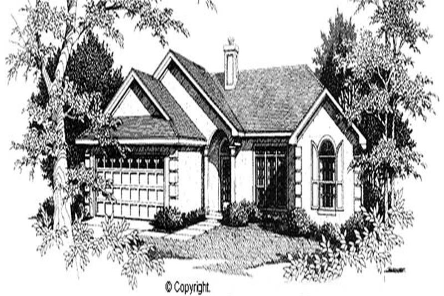 3-Bedroom, 1481 Sq Ft Ranch Home Plan - 174-1040 - Main Exterior