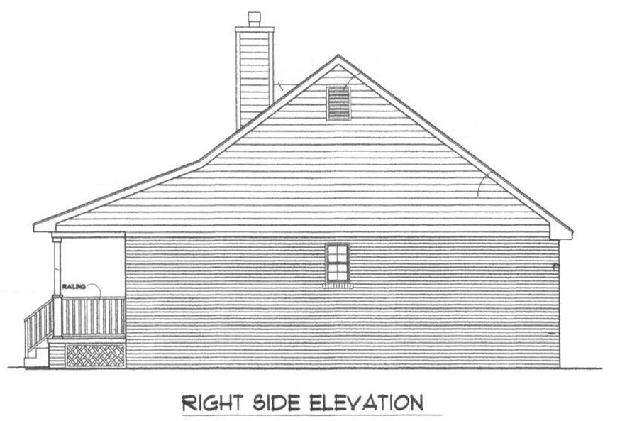Home Plan Right Elevation of this 3-Bedroom,1277 Sq Ft Plan -174-1043