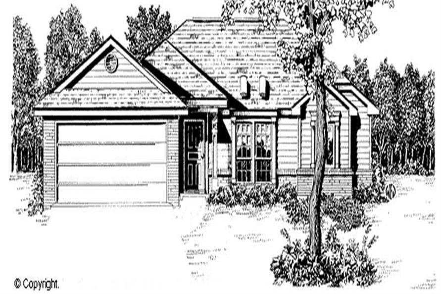 3-Bedroom, 1268 Sq Ft Ranch Home Plan - 174-1044 - Main Exterior