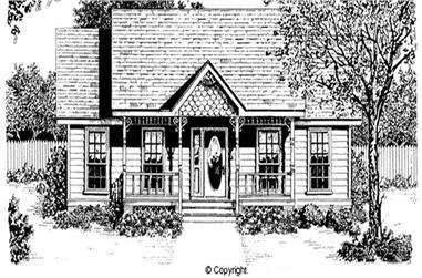 2-Bedroom, 947 Sq Ft Country Home Plan - 174-1049 - Main Exterior