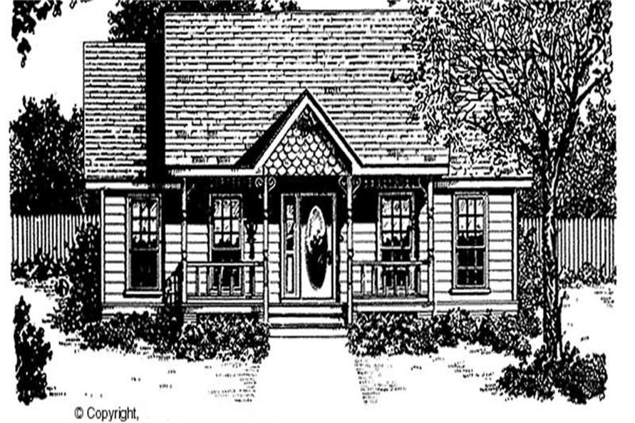 2-Bedroom, 1036 Sq Ft Country Home Plan - 174-1050 - Main Exterior