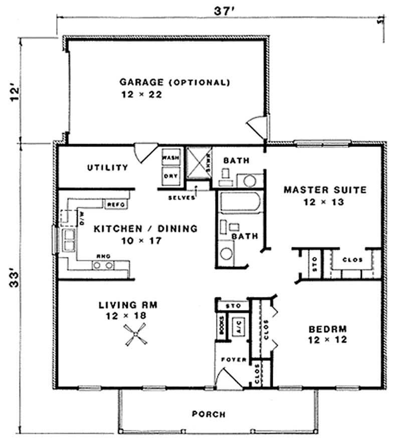 Traditional country ranch farmhouse house plan home for Ranch home plans with cost to build