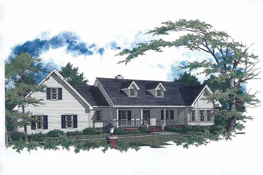 3-Bedroom, 2089 Sq Ft Cape Cod House Plan - 174-1054 - Front Exterior