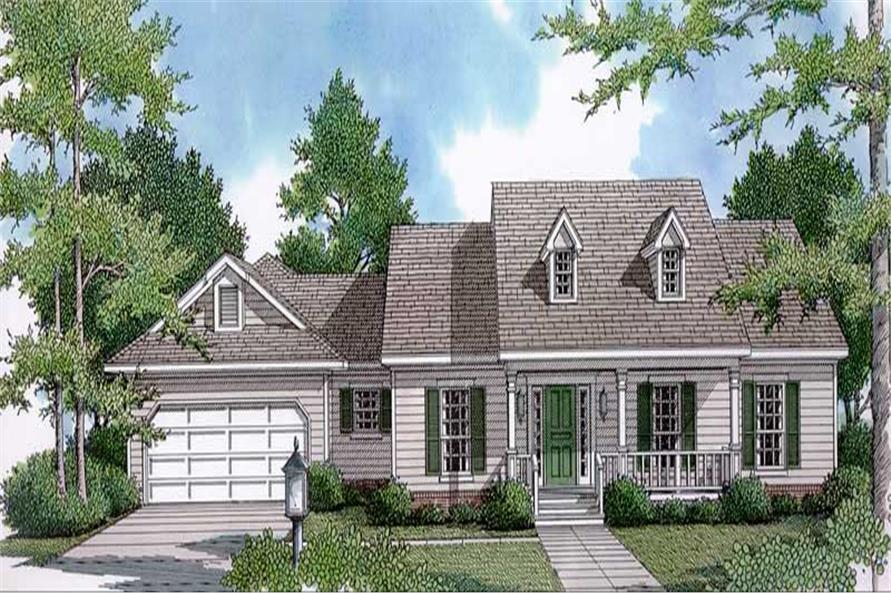 3-Bedroom, 2069 Sq Ft Cape Cod House Plan - 174-1056 - Front Exterior