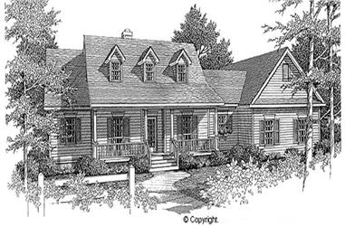 2-Bedroom, 1926 Sq Ft Cape Cod House Plan - 174-1058 - Front Exterior