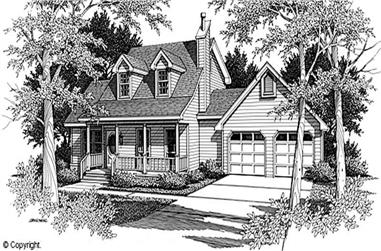 3-Bedroom, 1925 Sq Ft Cape Cod House Plan - 174-1059 - Front Exterior