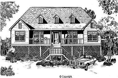 3-Bedroom, 1919 Sq Ft Coastal Home Plan - 174-1060 - Main Exterior