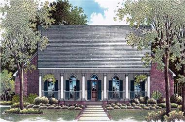 3-Bedroom, 1878 Sq Ft Country Home Plan - 174-1062 - Main Exterior