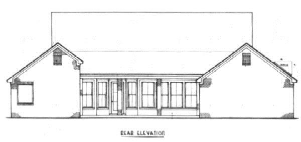 174-1062: Home Plan Rear Elevation