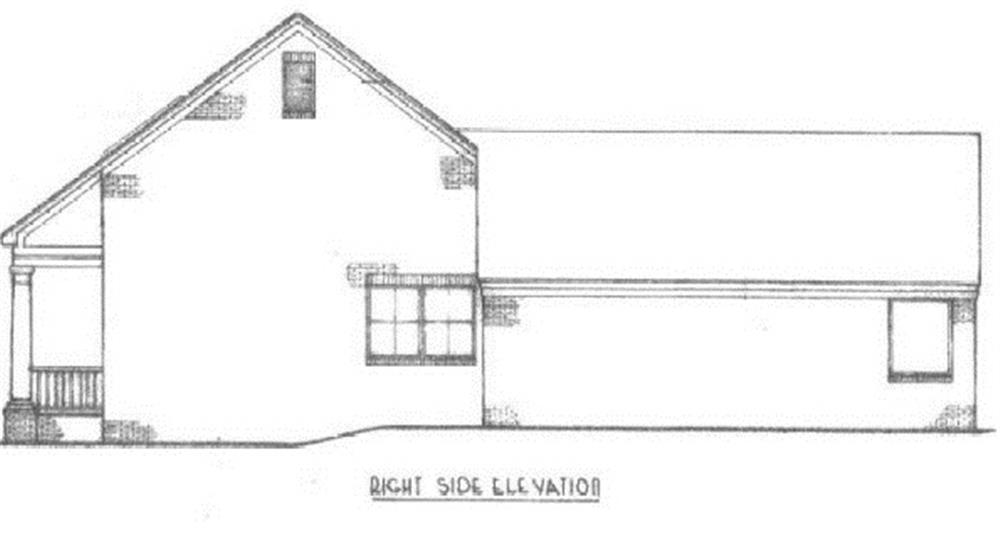 174-1062: Home Plan Right Elevation