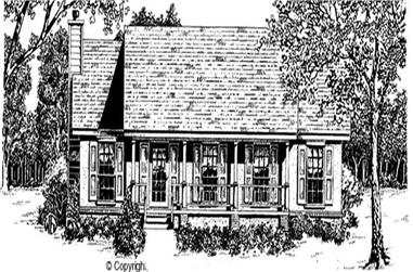 3-Bedroom, 1247 Sq Ft Country House Plan - 174-1065 - Front Exterior