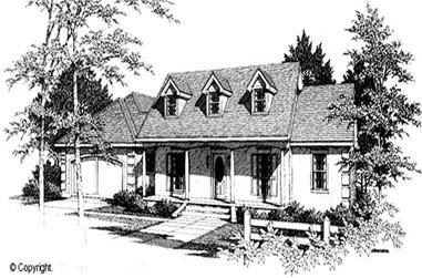 3-Bedroom, 1843 Sq Ft Cape Cod Home Plan - 174-1066 - Main Exterior